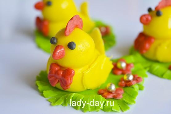 цыплята из мастики