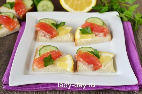 бутерброды с красной рыбы рецепты с фото простые и вкусные