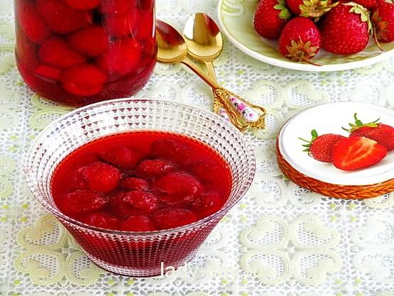 Клубника в собственном соку на зиму рецепт с фото