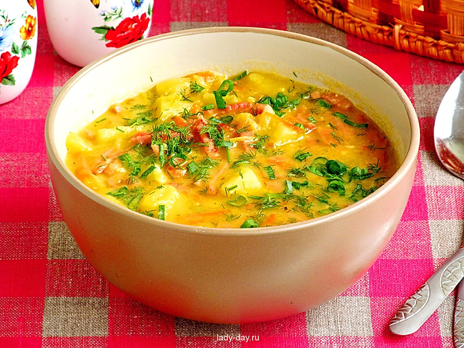 гороховый суп рецепт с копченой колбасой с фото пошагово