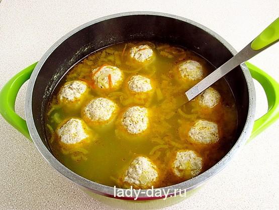 Суп с фрикадельками 12
