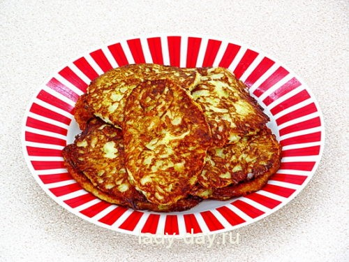 Оладьи из кабачков с сыром 6
