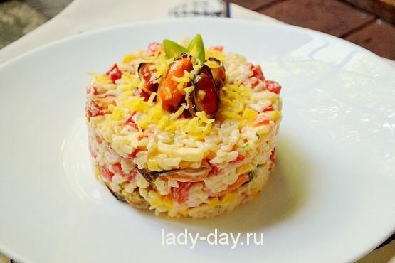 простой салат с мидиями рецепт с фото очень вкусный