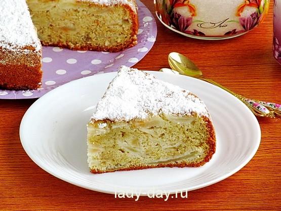 рецепт шарлотки с яблоками в духовке на сковороде