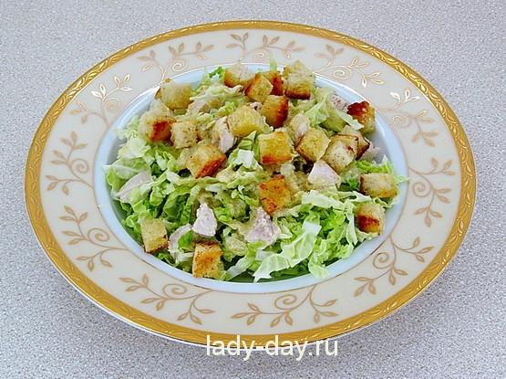 + сухарики на салат