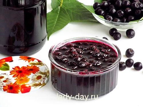 варенье из черноплодной рябины на зиму, рецепт