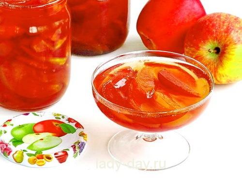 Варенье яблочное прозрачное дольками