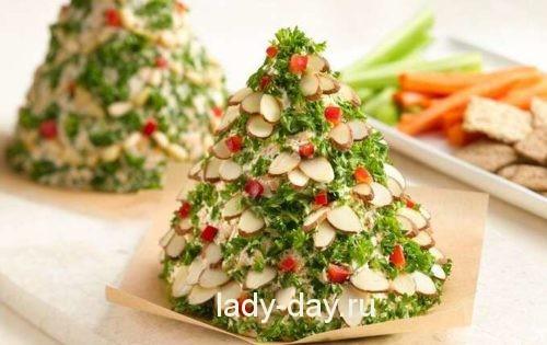 Салат в виде елочки