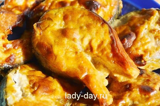 скумбрия в горчично соевом соусе в духовке