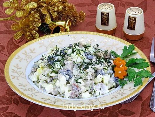 праздничный салат с оливками