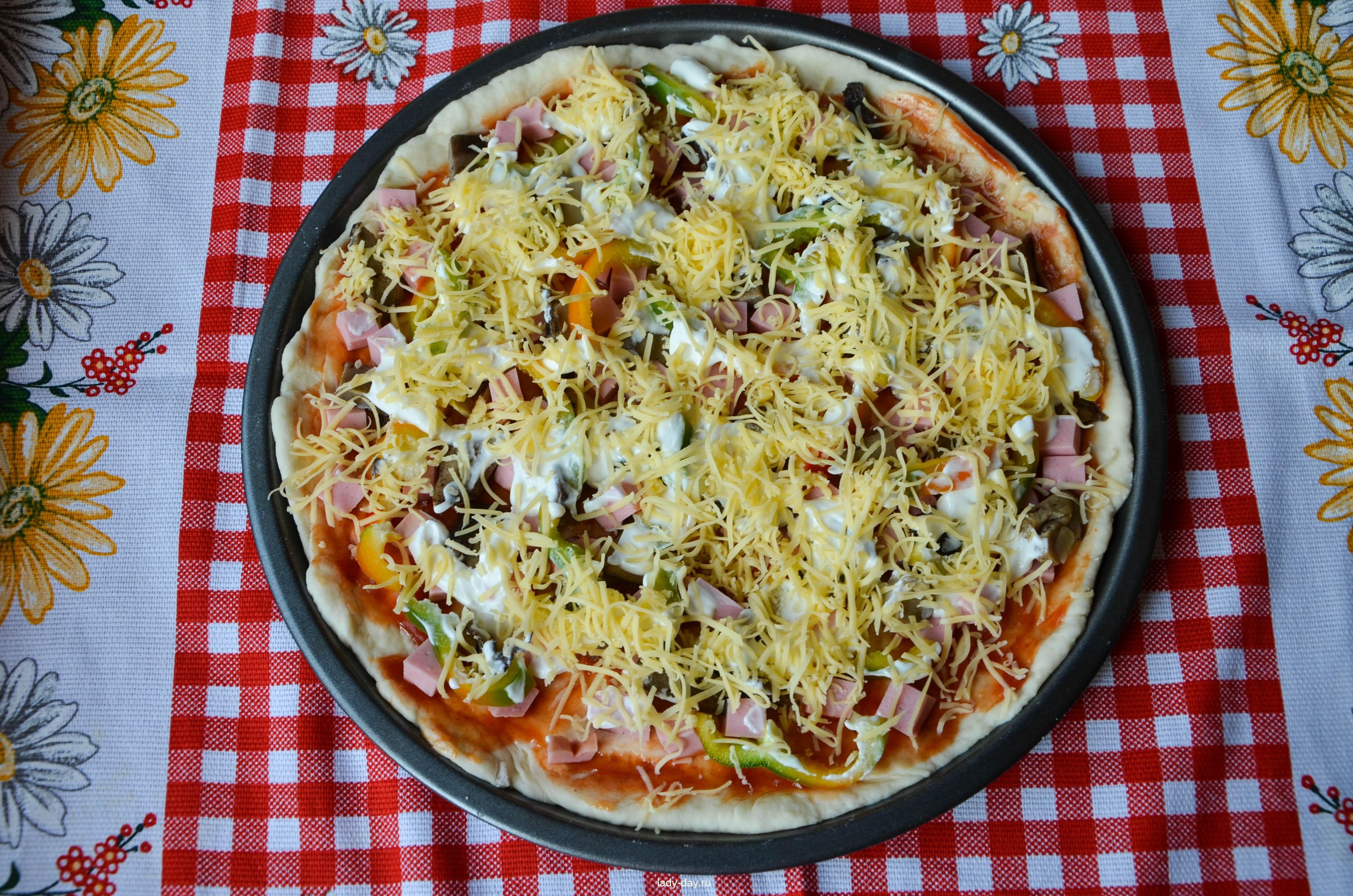 Рецепты пиццы с кефира пошагово