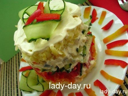 Салат с яйцами простой и вкусный