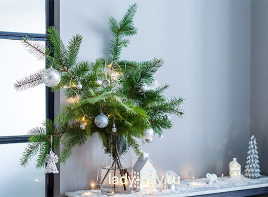 Украшение квартиры на Новый год