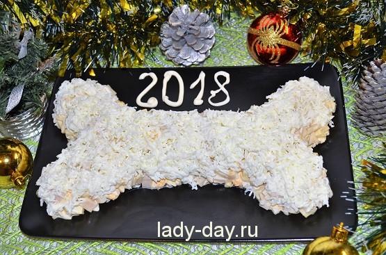 Салат Косточка рецепт с фото