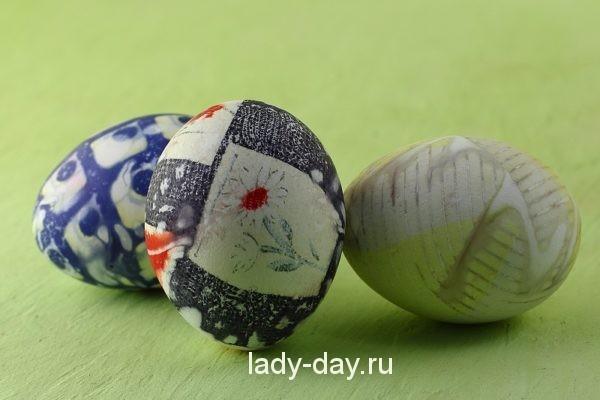 шелкография на яйцах к Пасхе