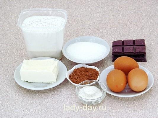 ингредиенты на маффины