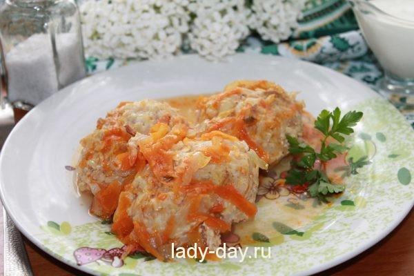 рецепт ленивых голубцов с фаршем и рисом