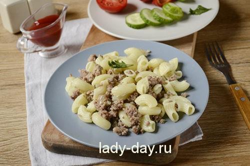макароны с фаршем