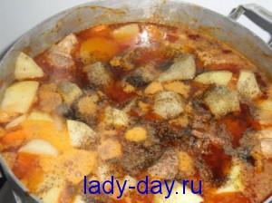 lady-day.ru-Картошка тушеная со свининой