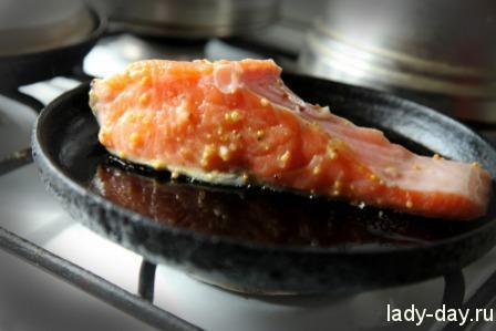 Салат с семгой рецепт с фото