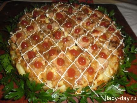 мясо по-французски в духовке рецепт с фото