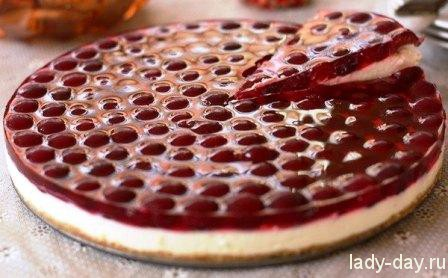 lady-day-Вишневый торт без выпечки
