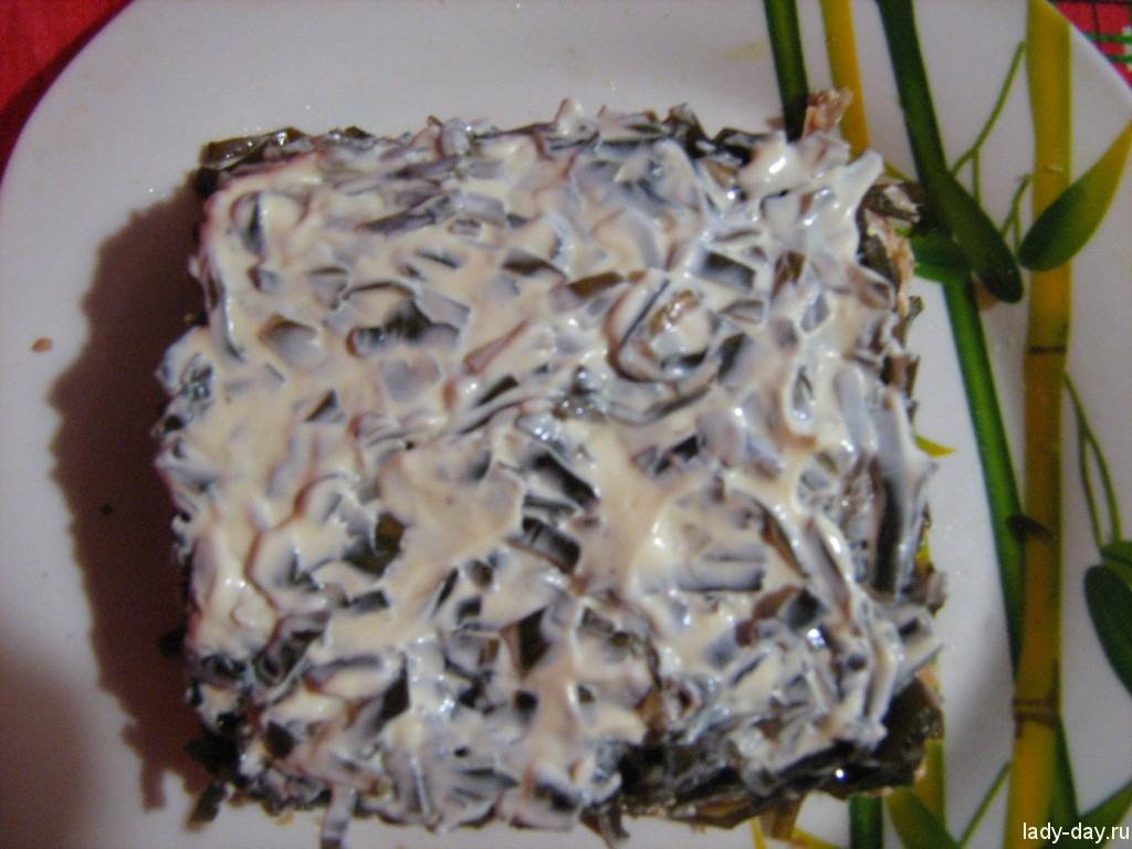 Третий слой - морская капуста