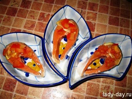 Запеченная красная рыба