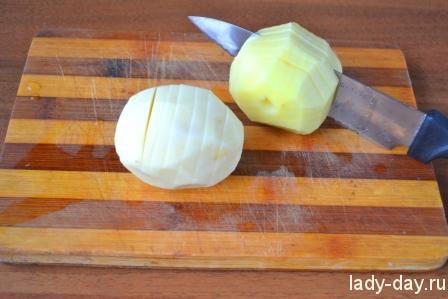 Картофель с беконом или картошка-гармошка