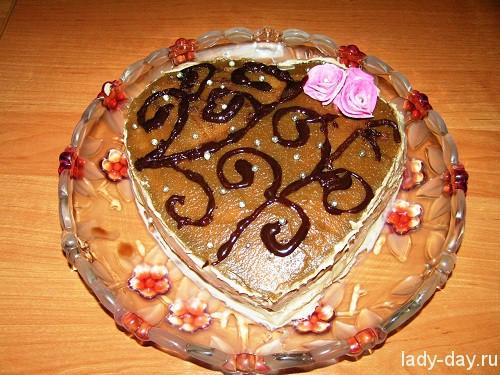 Торт на 8 марта Шоколадный пломбир