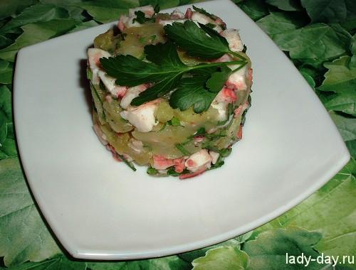 Салат с осьминогом