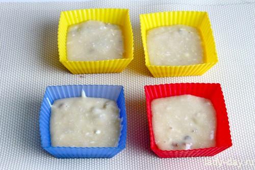 Маффины с орехами в микроволновке