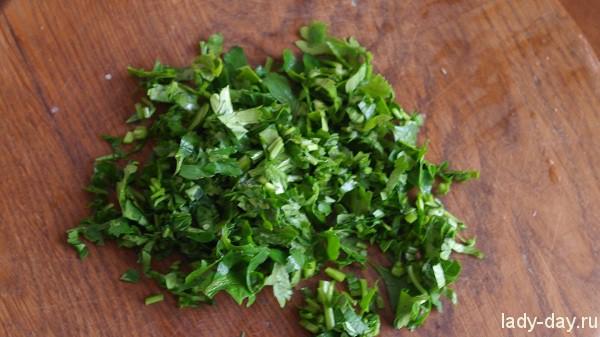 Картофельные хичины с зеленью