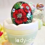 Расписное пасхальное яйцо «Маки»