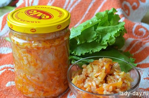 консервация салат с рисом рецепт