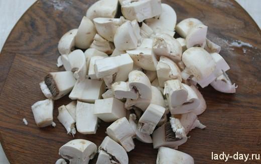 Цветная капуста с грибами