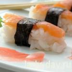 Вкусные суши нигири