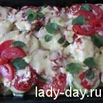 Запеканка из кабачков и помидоров