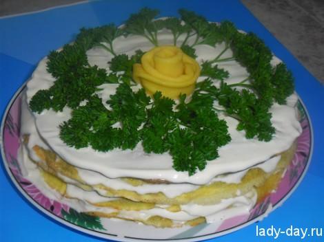 Печеночный торт: рецепт с фото