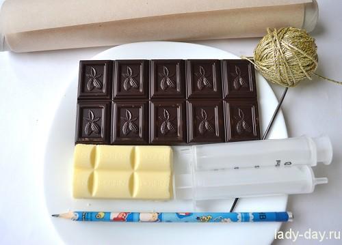 Украшения на ёлку из шоколада