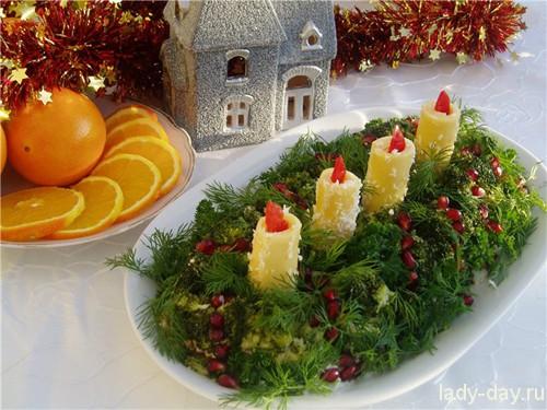 Рецепты салатов к Новому году 2014