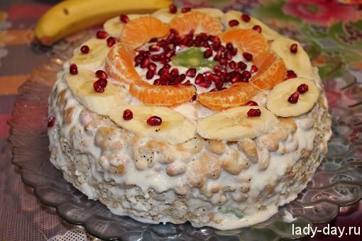 Торт без выпечки из крекеров
