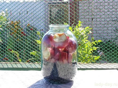 Компот из черноплодной рябины и яблок