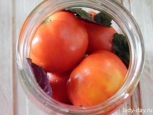 помидоры с базииком