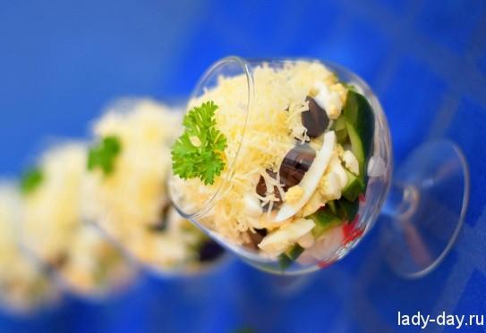 """Салат крабовый """"Сказочный лес"""", пошаговый рецепт с фото"""