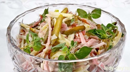 Швейцарский новогодний салат
