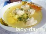 Быстрый суп с пельменями