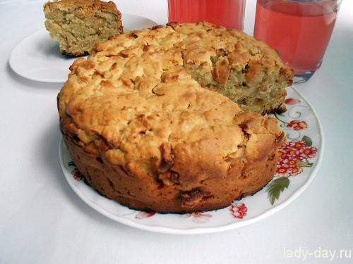 яблочный пирог с овсяными хлопьями