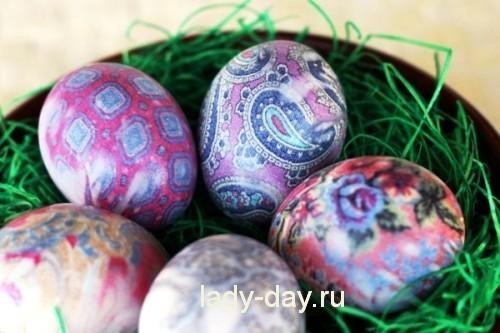 яйца в тряпочках