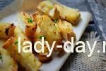 Запеченные хлебные палочки с картофелем